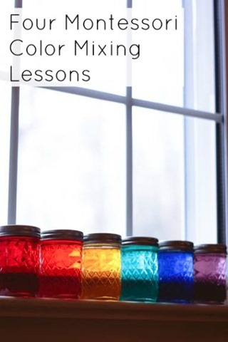 Four Montessori Color Mixing Lessons
