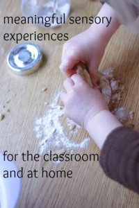 Meaningful sensory activities in the Montessori classroom & at home