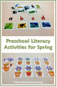 Spring Literacy Activities for Preschoolers