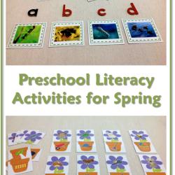 Fun literacy activities for preschoolers contributed by Trillium Montessori on MontessoriBloggersNetwork.com
